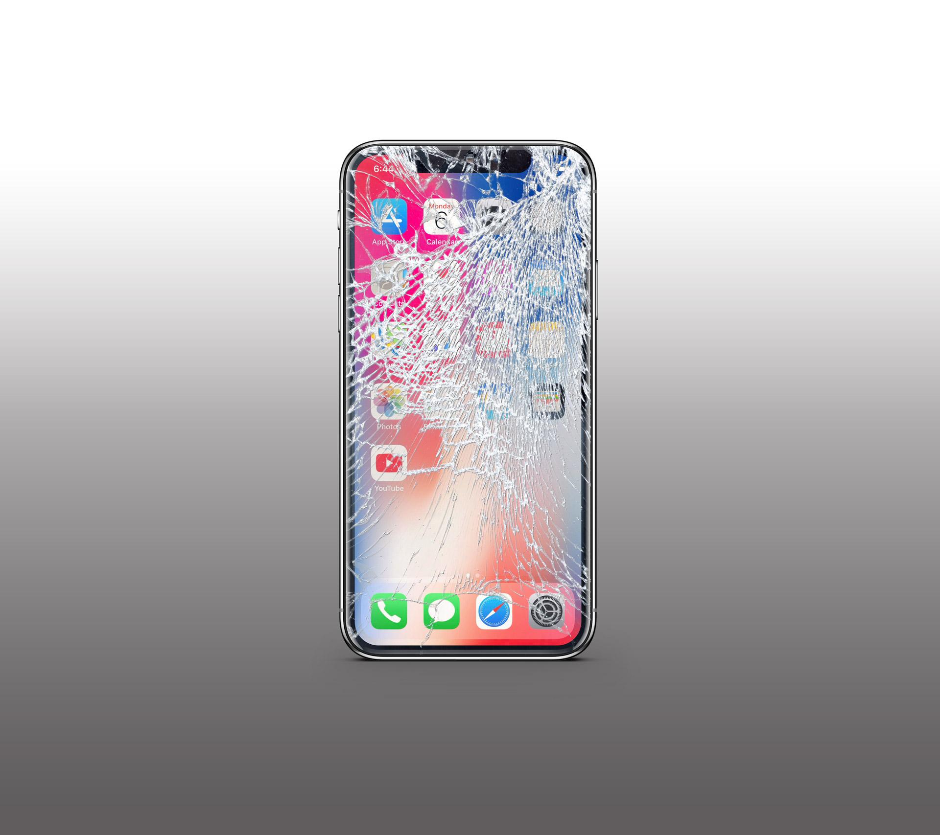 iphone x broken